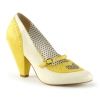POPPY-18 Yellow/Cream Faux Leather